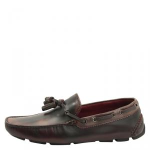 Berluti Two Tone Leather Tassel Loafers Size 41.5