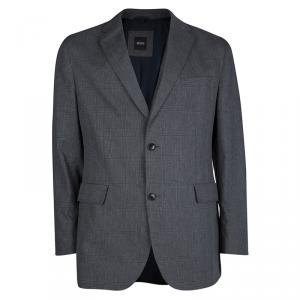 Boss By Hugo Boss Grey Plaid Regular Fit Blazer S