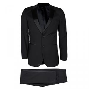 Boss by Hugo Boss Super 100 Black Wool Slim Fit Tuxedo Suit S