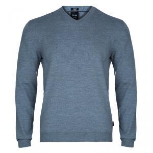 Boss By Hugo Boss Men's Grey Merino Wool Sweater M