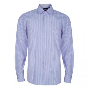 Boss by Hugo Boss Men's Lilac Striped Shirt L