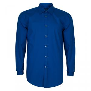 Boss by Hugo Boss Men's Blue Shirt L