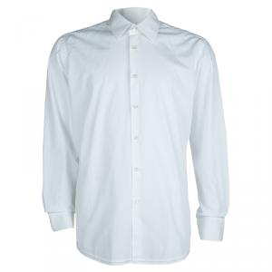 Boss by Hugo Boss White Long Sleeve Buttondown Cotton Shirt L