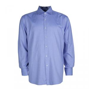 Boss by Hugo Boss Blue Long Sleeve Buttondown Cotton Shirt XL