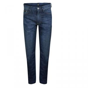 Boss By Hugo Boss Indigo Dark Wash Denim Faded Jeans M