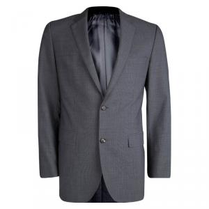 Boss by Hugo Boss Grey Wool Pinstriped Blazer M