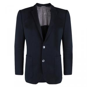 Boss By Hugo Boss Navy Blue Textured Hanson Blazer L