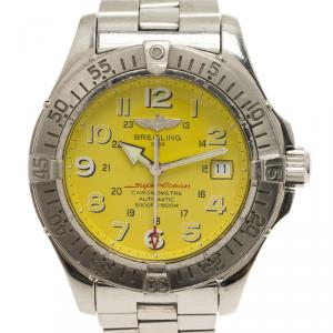 Breitling Yellow Stainless Steel SuperOcean Men's Wristwatch 41.5MM