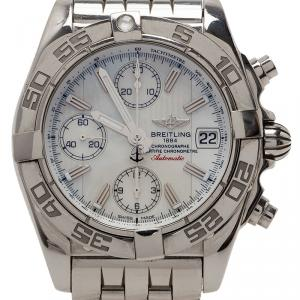 Breitling White Stainless Steel Galactic Men's Wristwatch 39MM