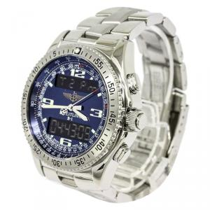 Breitling Blue Stainless Steel B-1 Men's Wristwatch 42MM
