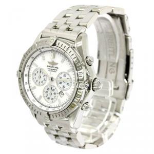 Breitling White Stainless Steel Windrider Men's Wristwatch 38MM