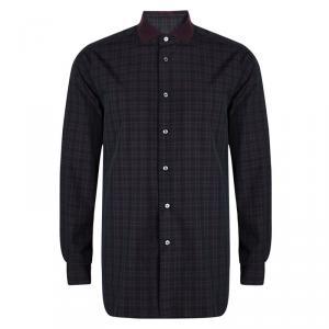 Brioni Multicolor Tartan Plaid Long Sleeve Button Front Shirt XXL