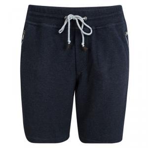 Brunello Cucinelli Dark Blue Zip Pocket Detail Shorts L