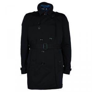 Burberry Kensington Men's Trench Coat With Removable Down-feather Warmer XXL