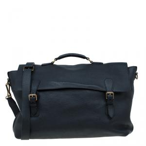 Burberry Black Leather Messenger Bag