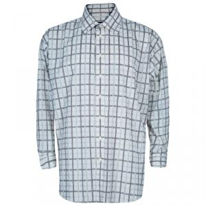 Burberry Men's Check Cotton Shirt XXL