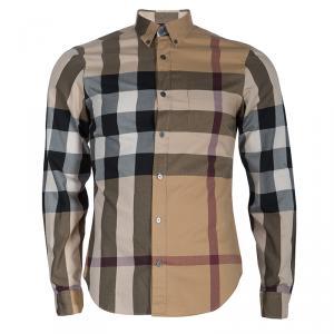 Burberry Men's Novacheck Button Down Shirt S