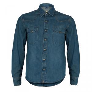 Burberry Indigo Denim Long Sleeve Buttondown Shirt M