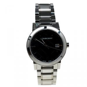 Burberry Black Stainless Steel Heritage BU1364 Men's Wristwatch 38MM