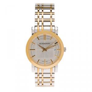 Burberry Silver Stainless Steel BU1350 Men's Wristwatch 38MM