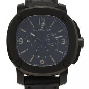Burberry Black Stainless Steel The Britain Men's Wristwatch 47MM