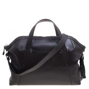 Bvlgari Dark Brown Leather Briefcase