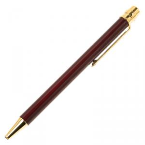 Cartier Wine Gold-Plated Lacquer Santos Ballpoint Pen