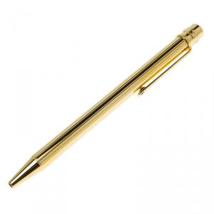 Cartier Decor Godrons Santos De Cartier Golden Finish Ballpoint  Pen
