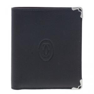 Cartier Black Leather Must De Cartier Multiple Wallet