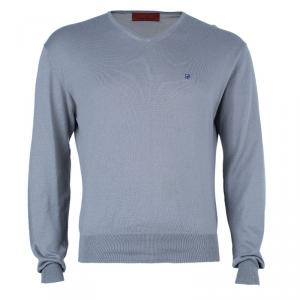 CH Carolina Herrera Men's Gray Knit Pullover S