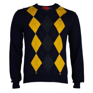 CH Carolina Herrera Men's Blue/Yellow Sweater L