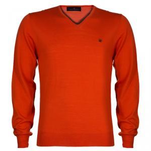 CH Carolina Herrera Men's Orange Sweater M