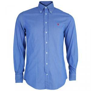 CH Carolina Herrera Men's Blue White Striped Shirt M