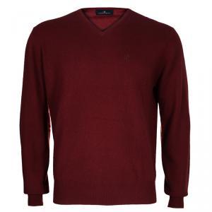 CH Carolina Herrera Men's Red Cashmere Pullover l