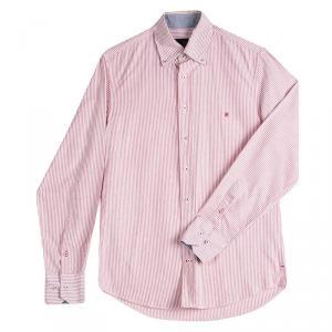 CH Carolina Herrera Red And White Striped Cotton Shirt S