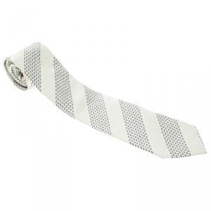 Chanel Monochrome Logo Embroidered Silk Tie