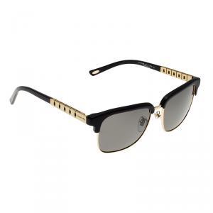 Chopard Matt Black & Gold Finish SCHB30 Polarized Sunglasses