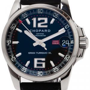 Chopard Black Stainless Steel Mille Miglia Gran Tourismo Men's Wristwatch 44MM