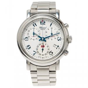 Chopard White Stainless Steel Mille Miglia Men's Wristwatch 38MM
