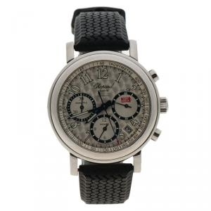Chopard Silver Stainless Steel Mille Miglia 8331 Chronograph Men's Wristwatch 39MM