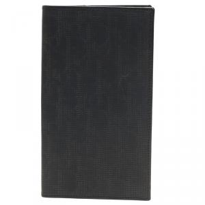Dior Homme Black Logo Jacquard Leather Passport Cover