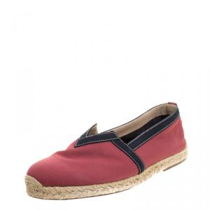 Christian Louboutin Red Canvas Eos Espadrilles Size 43
