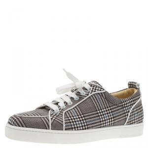 Christian Louboutin Monochrome Canvas Rantulow Sneakers Size 42