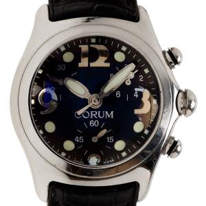 Corum Black Stainless Steel Boutique Bubble Men's Wristwatch 44MM