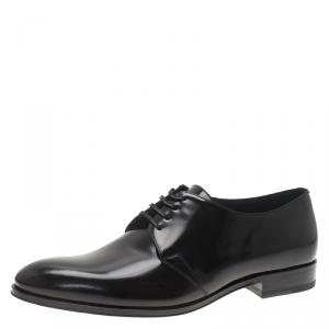 Dior Black Patent Lace Up Derby Size 42