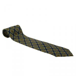 Dior Blue Print Silk Tie