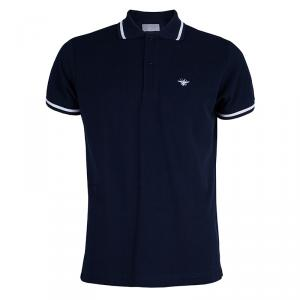 Dior Men's Navy Blue Polo Shirt M