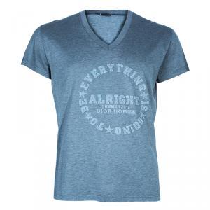 Dior Men's Grey Embellished T-Shirt XL