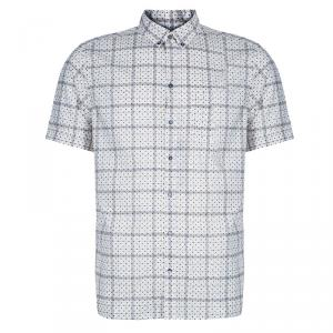 Dolce and Gabbana White Polka Dot Short Sleeve Shirt L