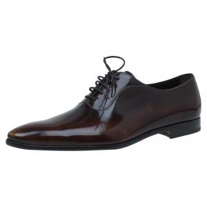 Dolce and Gabbana Brown Leather Lace Up Oxfords Size Size 42